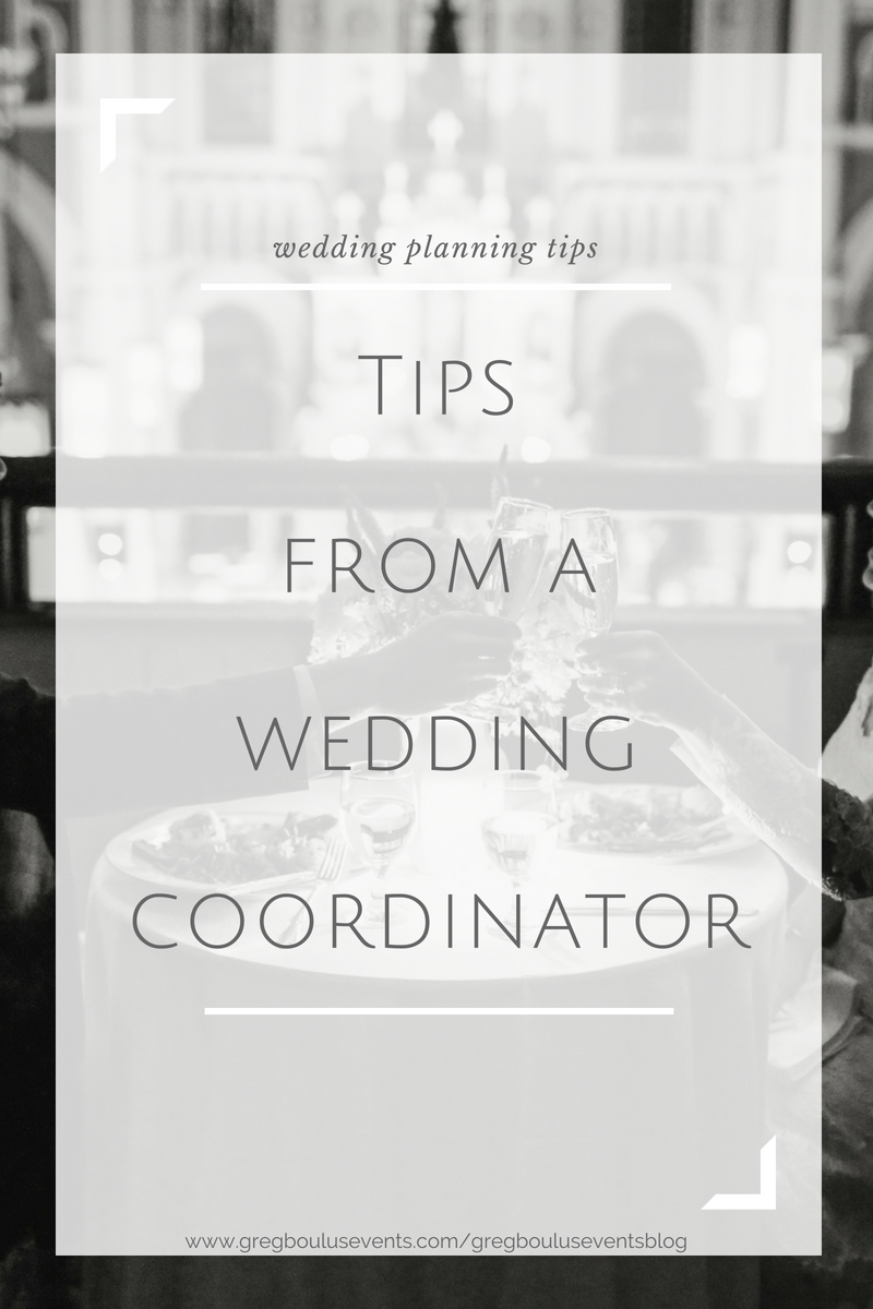 Wedding Planning Tips from a Wedding Coordinator