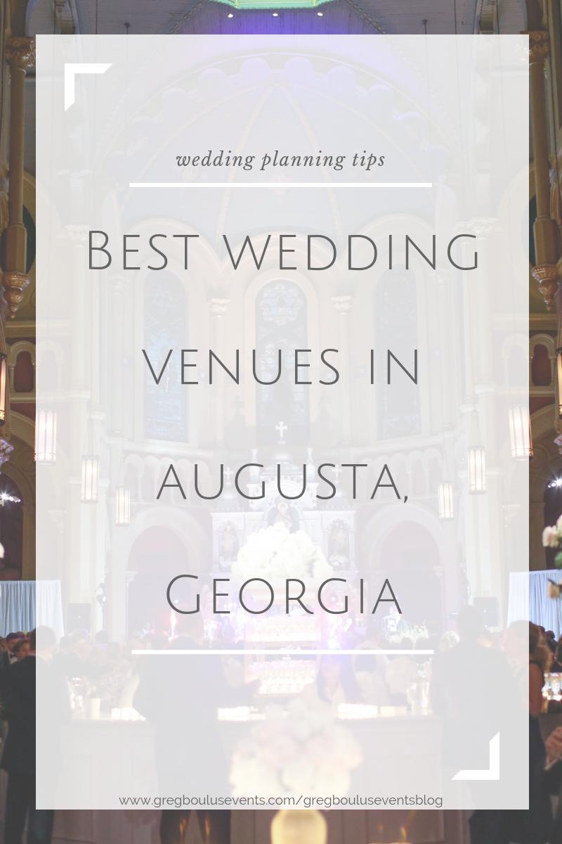Best Wedding Venues in Augusta, Georgia blog post
