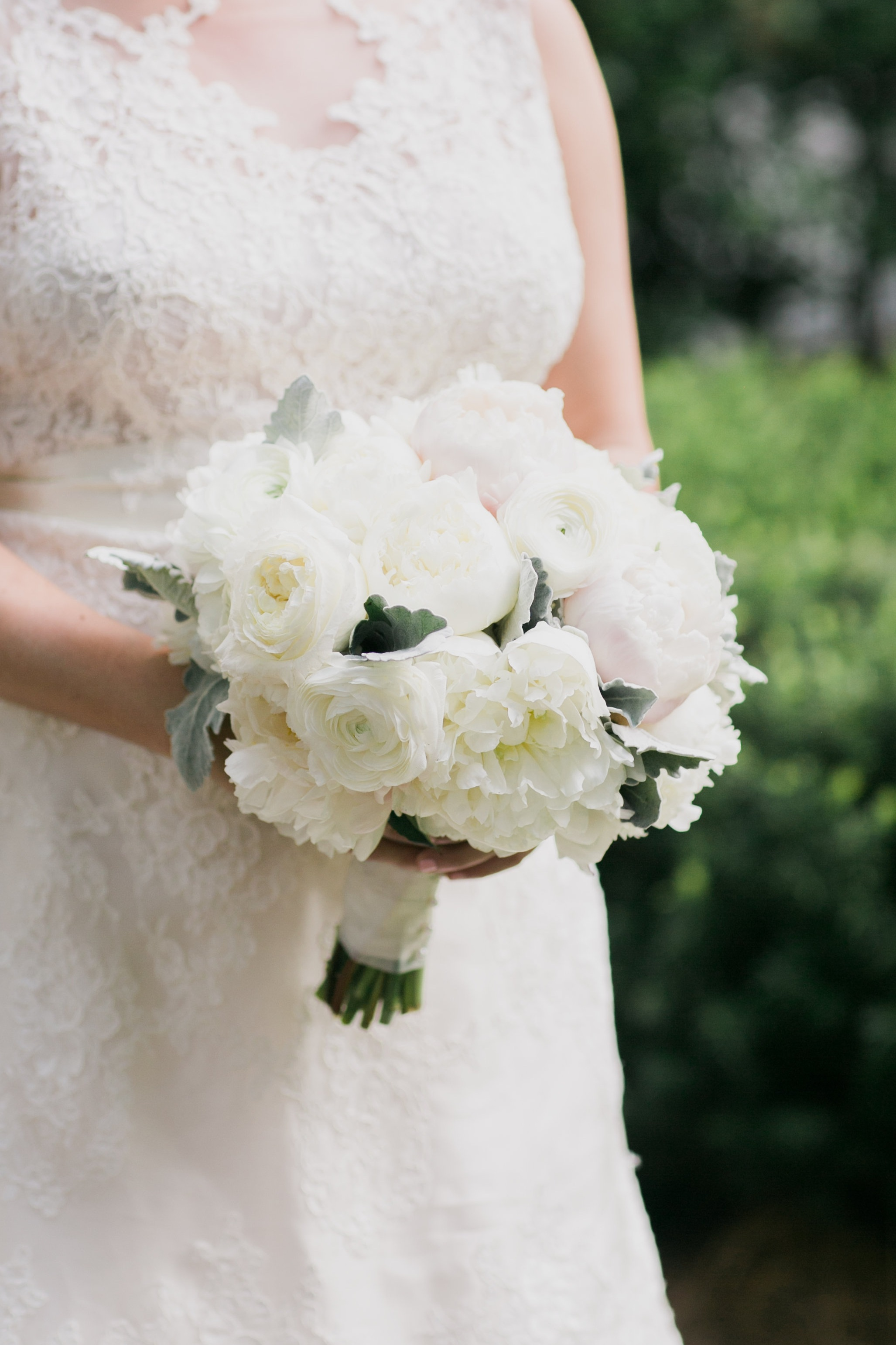 Featured Floral: Peonies, Ranunculus, Dusty Miller, Garden Roses - Taylor + Peyton, Augusta Country Club, Ashley Seawell Photography