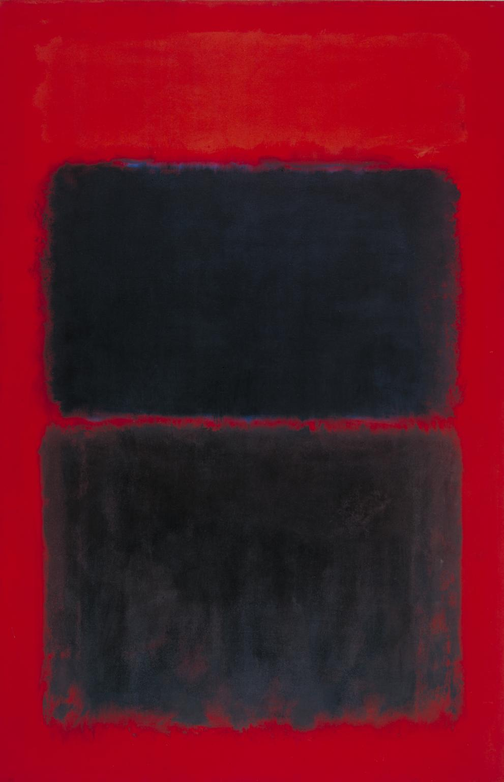 Light Red Over Black (1957) by Mark Rothko