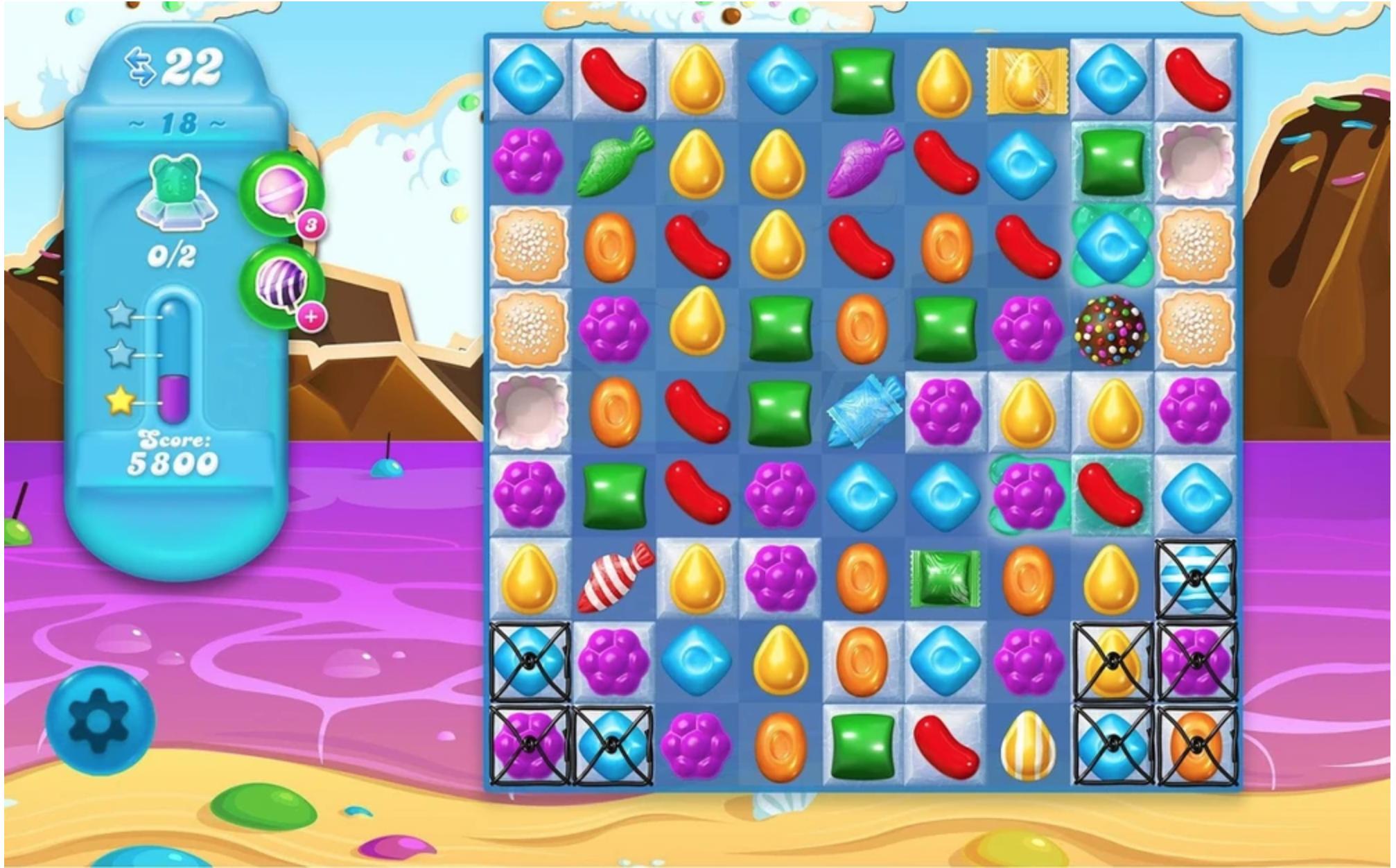 A screenshot for the PC version of  Candy Crush Soda Saga