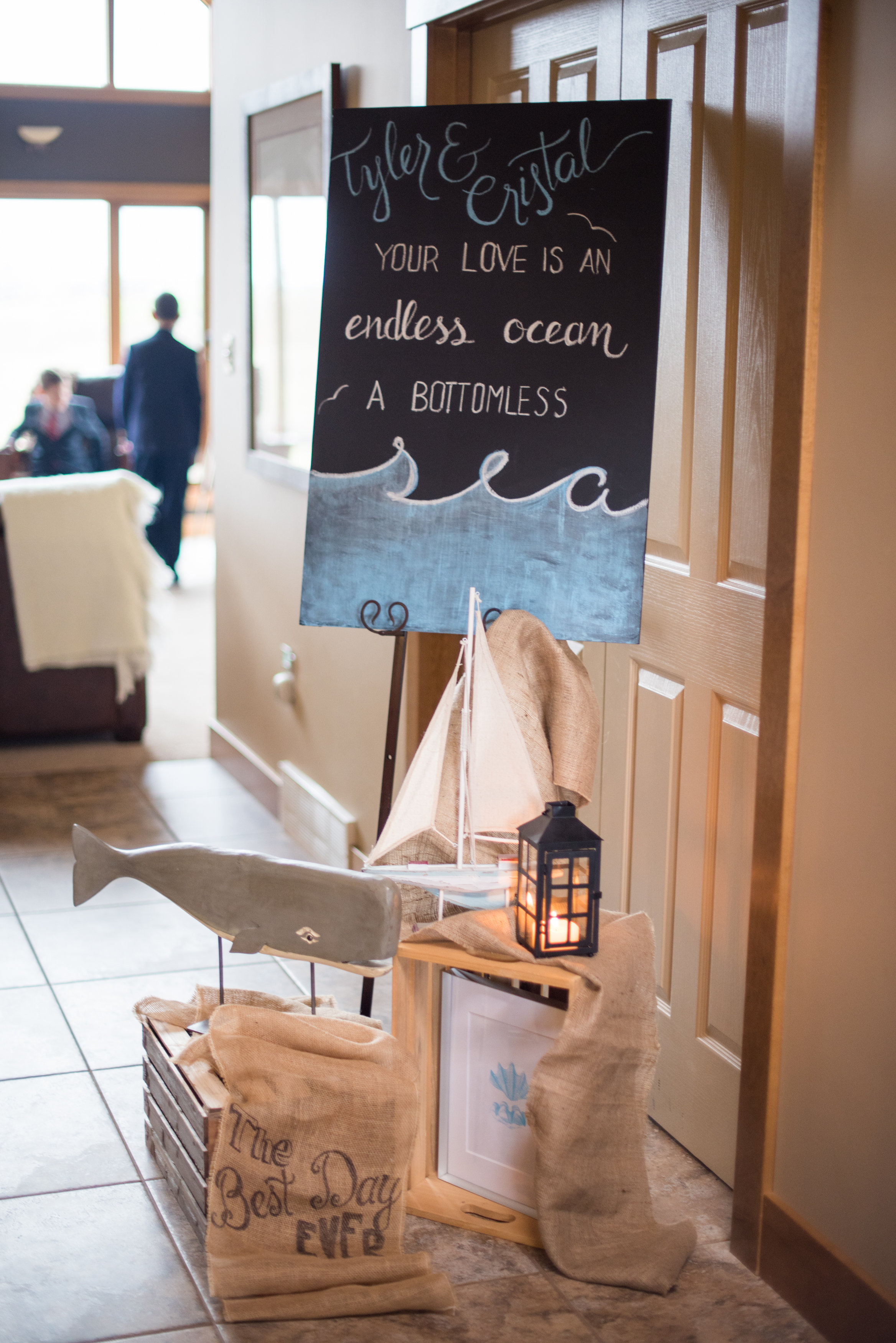 Celebrating Tyler's love of the ocean that theme was weaved throughout the decor for a relaxing Sunday morning brunch.