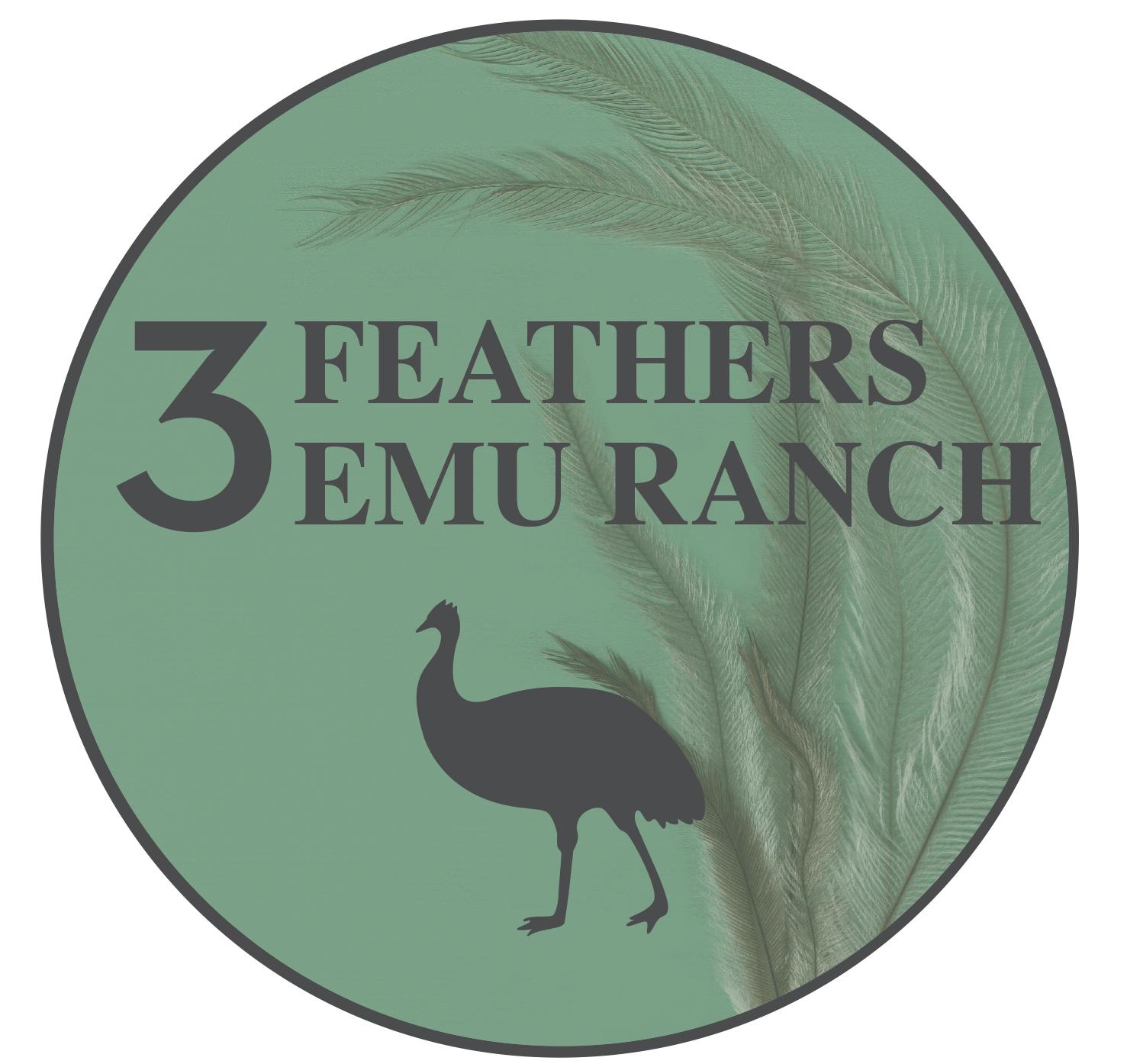 3 Feathers Emu Ranch Logo
