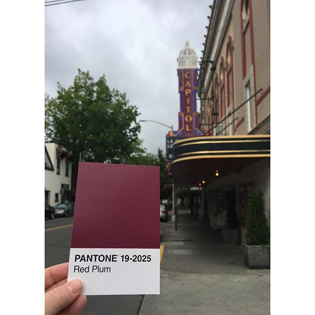 📽 . . . #OlyPantones #Colors  #PantoneColors #PantoneGram #ColorInspiration #Olympia #RedPlum #CapitolTheatre  #PugetSound #Downtown #Bright #Design #IHaveThisThingWithColor #GraphicDesigner #ThurstonTalk