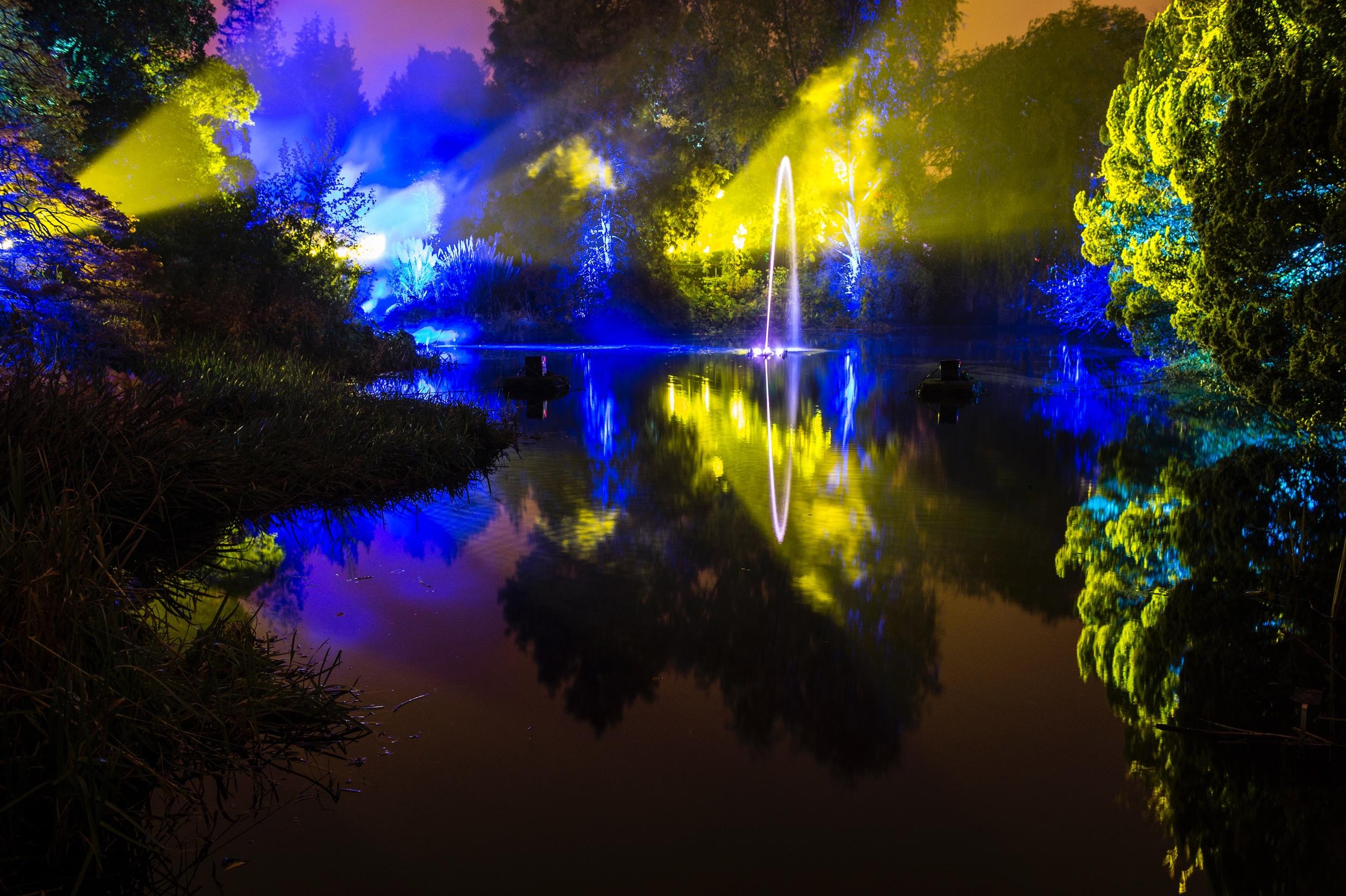 Award winning Botanic Lights at the Royal Botanic Gardens in Edinburgh is back.  As night falls, visitors can follow a magical trail of light through the Botanics..jpg