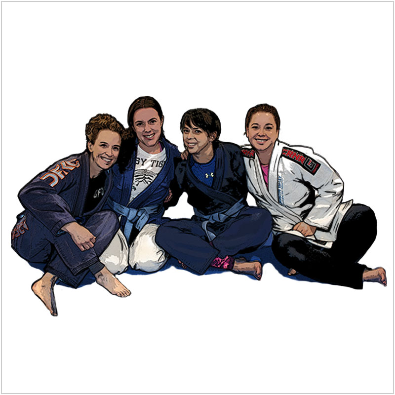Women's Jiu-Jitsu and Self-Defense - Women's strategy is more important than developing strength and power. We offer special class