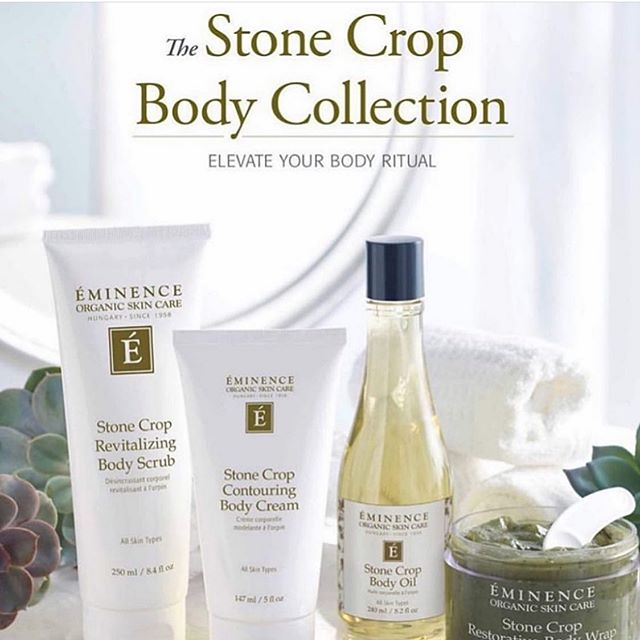 Coming June 1st!!! New Stone Crop Body Collection by @eminenceorganics  Great for Hydrating, Healing and Hyperpigmentation 🥳 ps- the Contouring Body Cream has been shown to reduce the appearance of cellulite in less than 60 days  Soon to be available at @sagebeautybar . . . . . #sagebeautybar #eminence #eminencesk #eminenceorganicskincare #organic #yxe #yxeskin #saskatoon #yxesalon