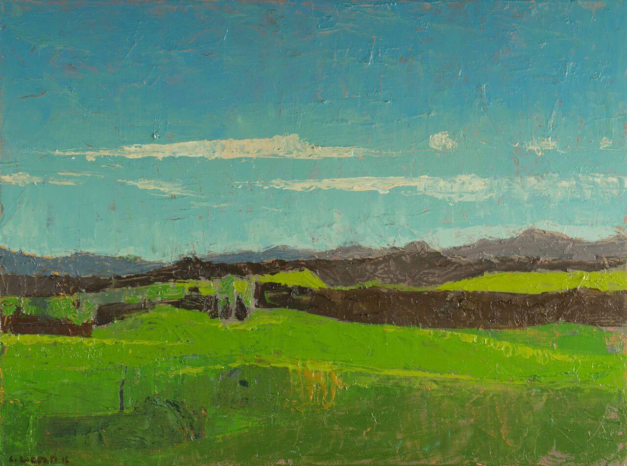 Green Field - 9 x 12