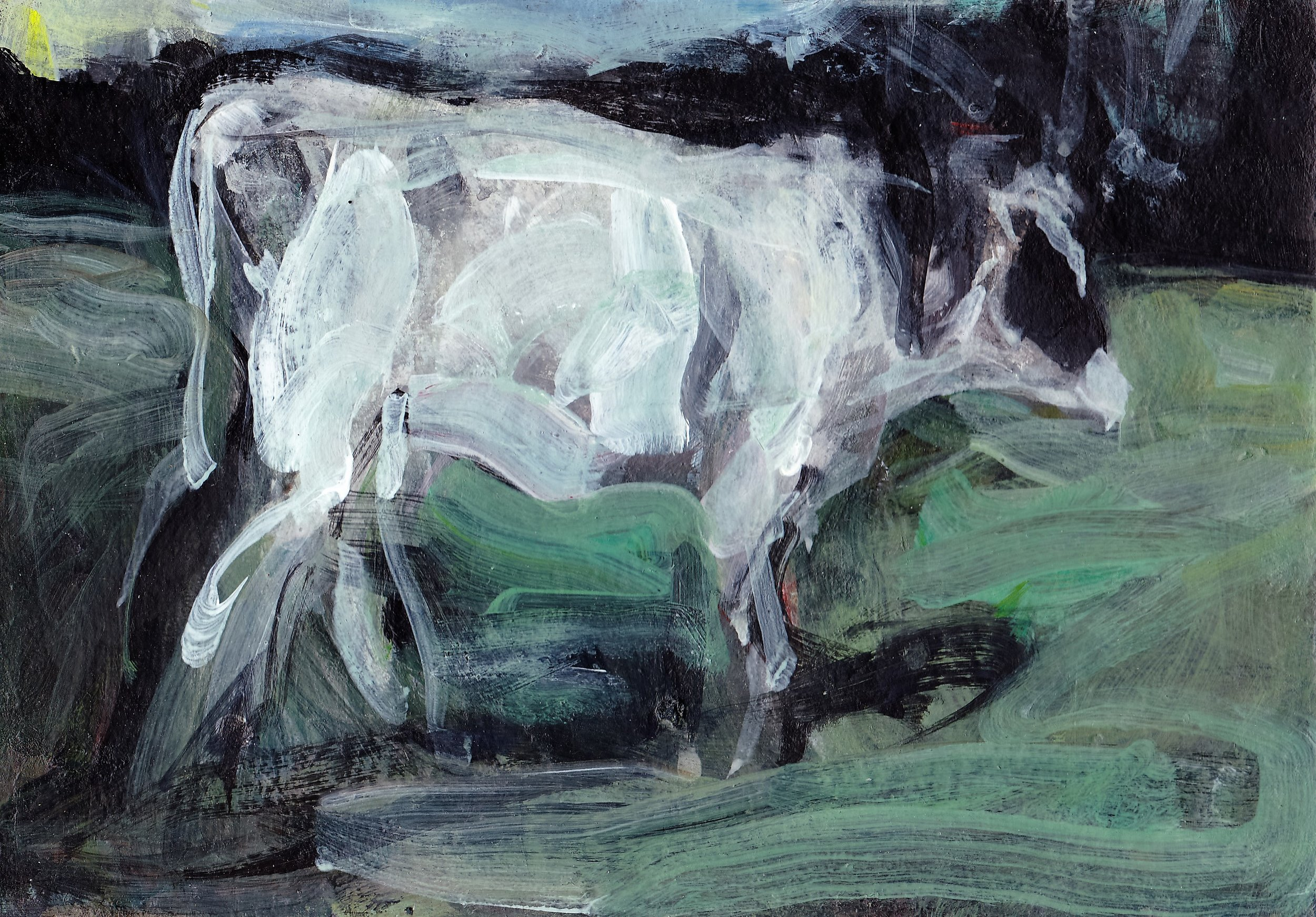 Cow at Dusk acrylic 6x9.jpg