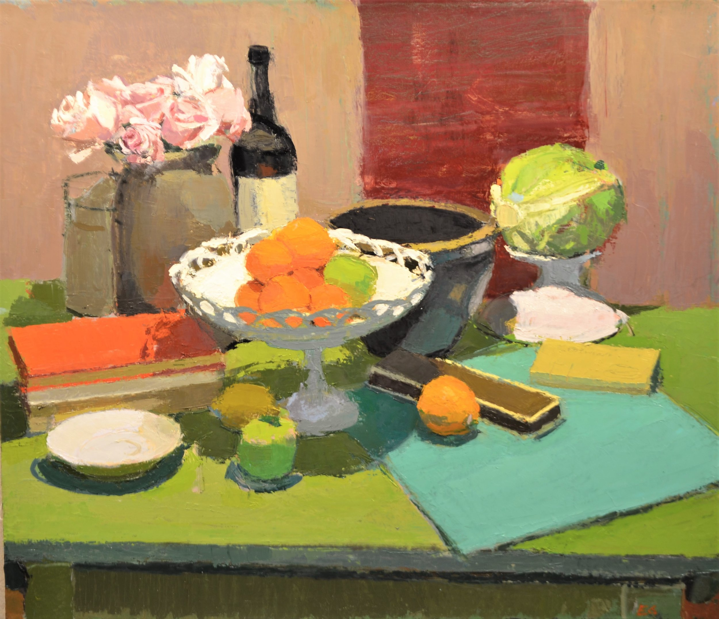 Still Life with Green Table and Cabbage.JPG