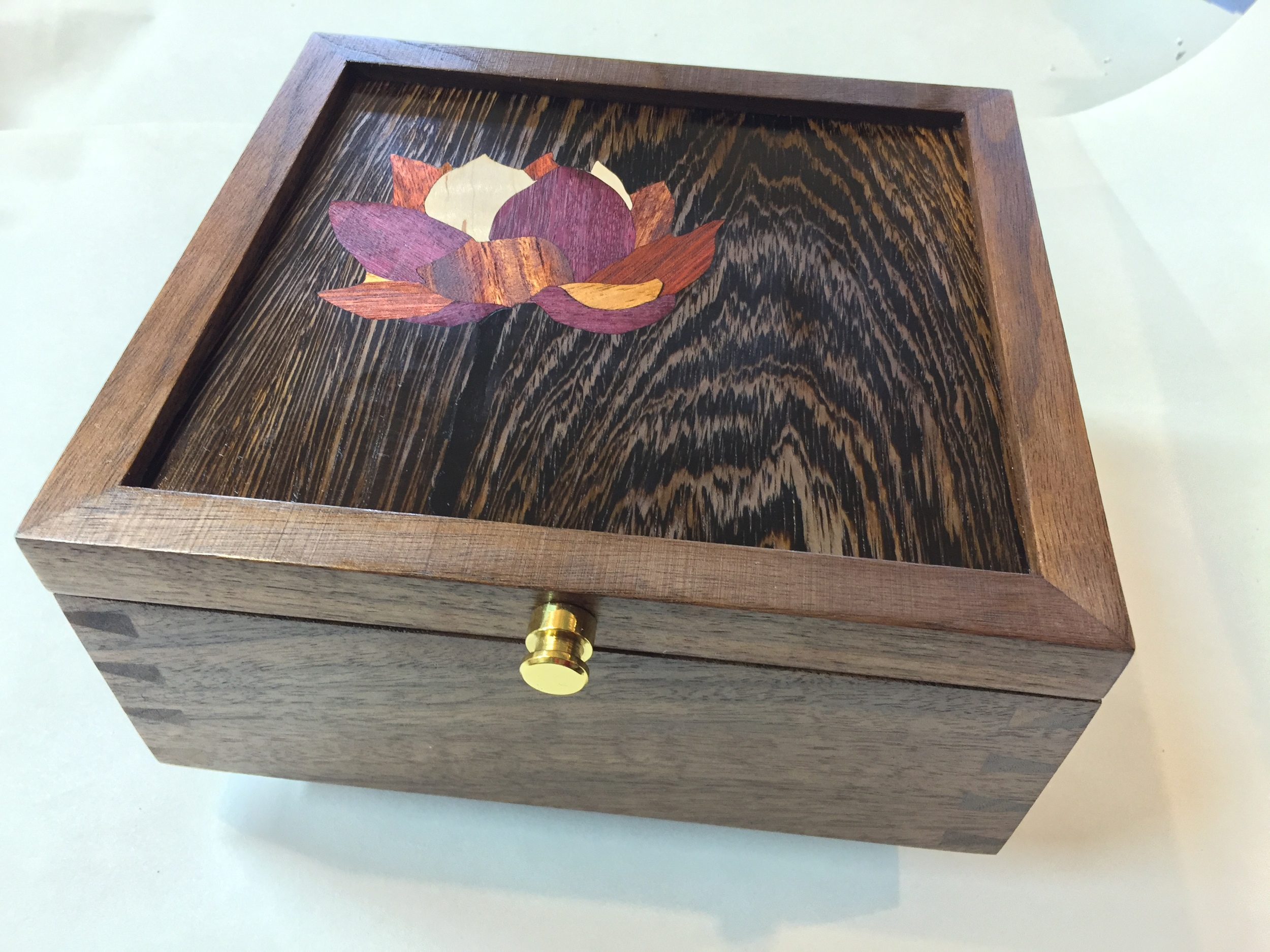 Jewelry Box with Dovetails and Custom Marquetry