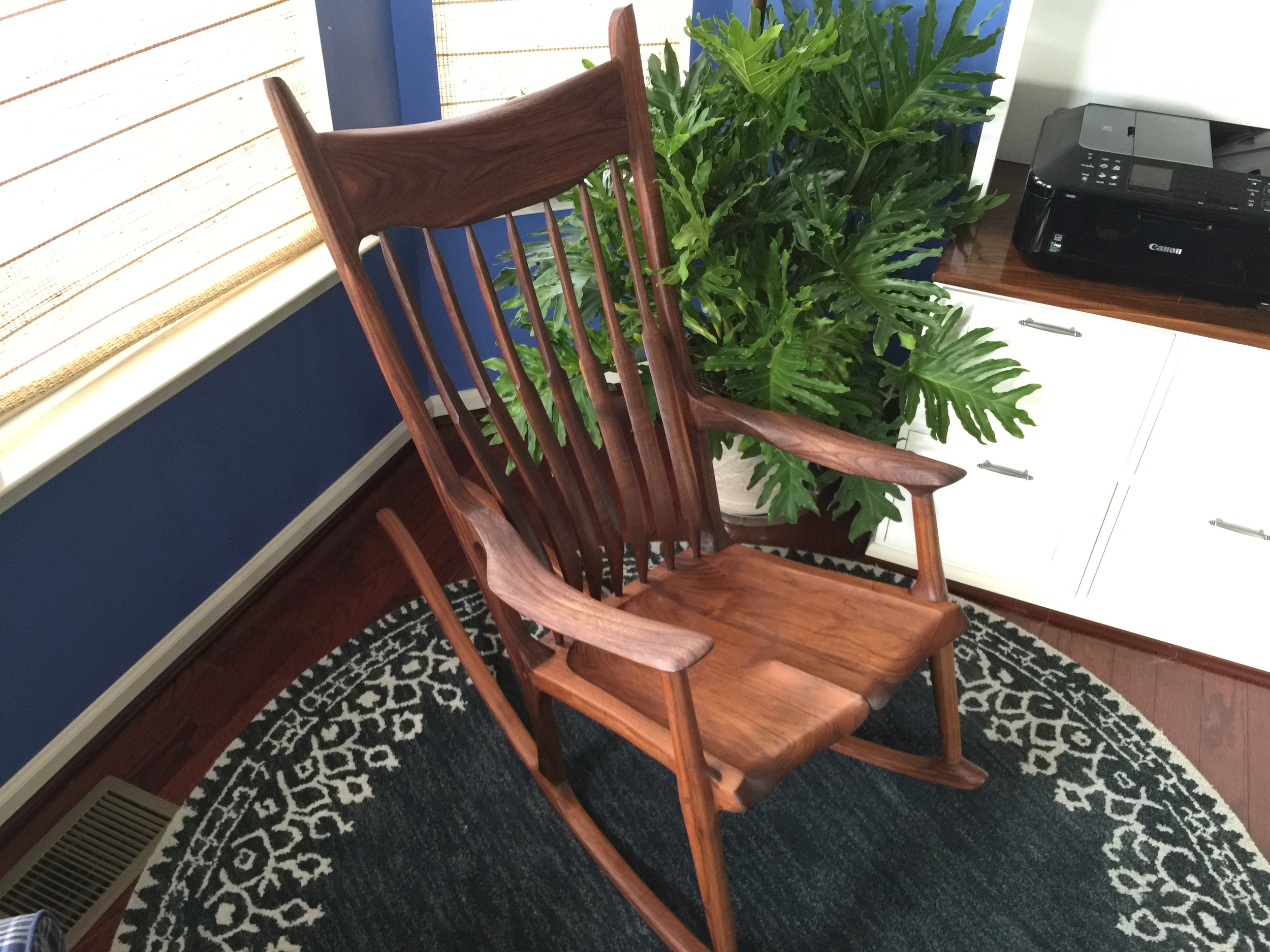 Maloof Inspired Sculpted Rocker