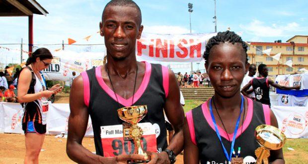 Sierra Leone Marathon winners. Image: Will Whitford