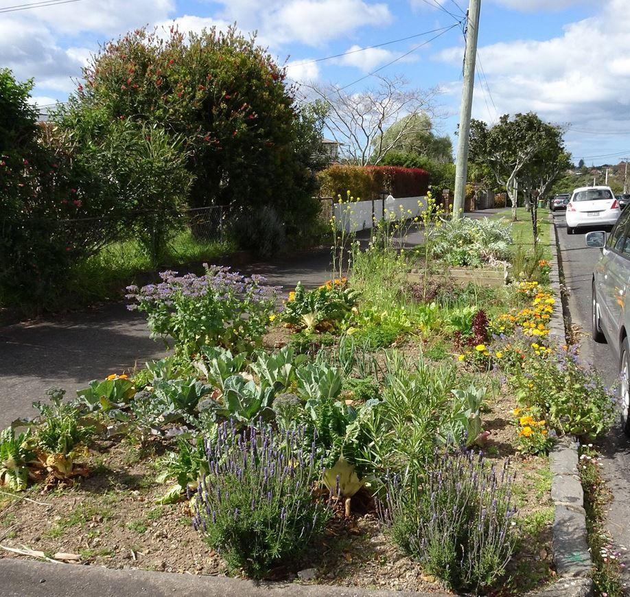 Berm gardening -