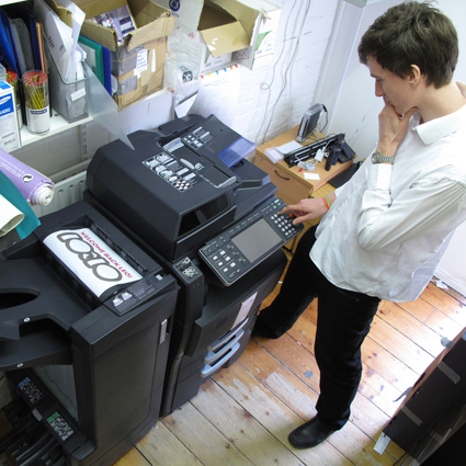 Printing sustainably -
