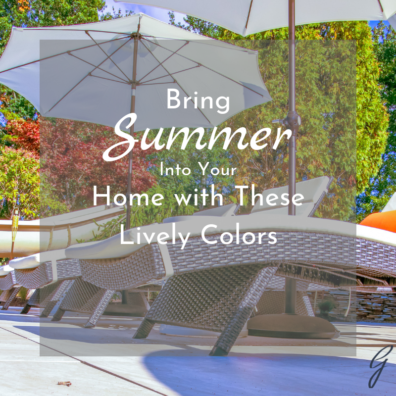 Summer Colors for the home
