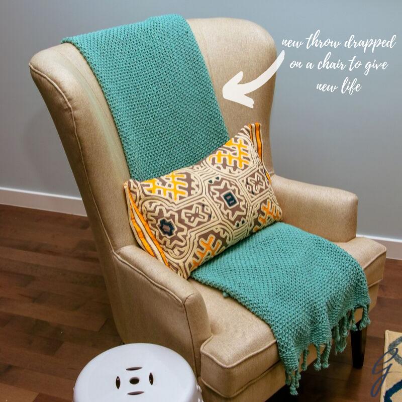 drape a throw on your chair