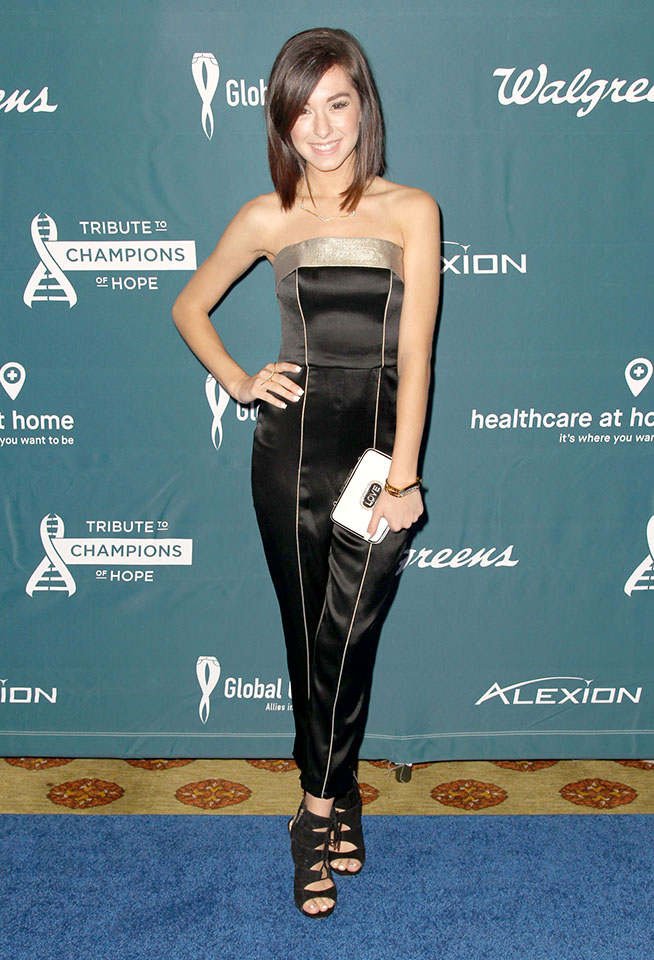 Christina Grimmie at the 2015 GLobal Genes Tribute to Champions of Hope