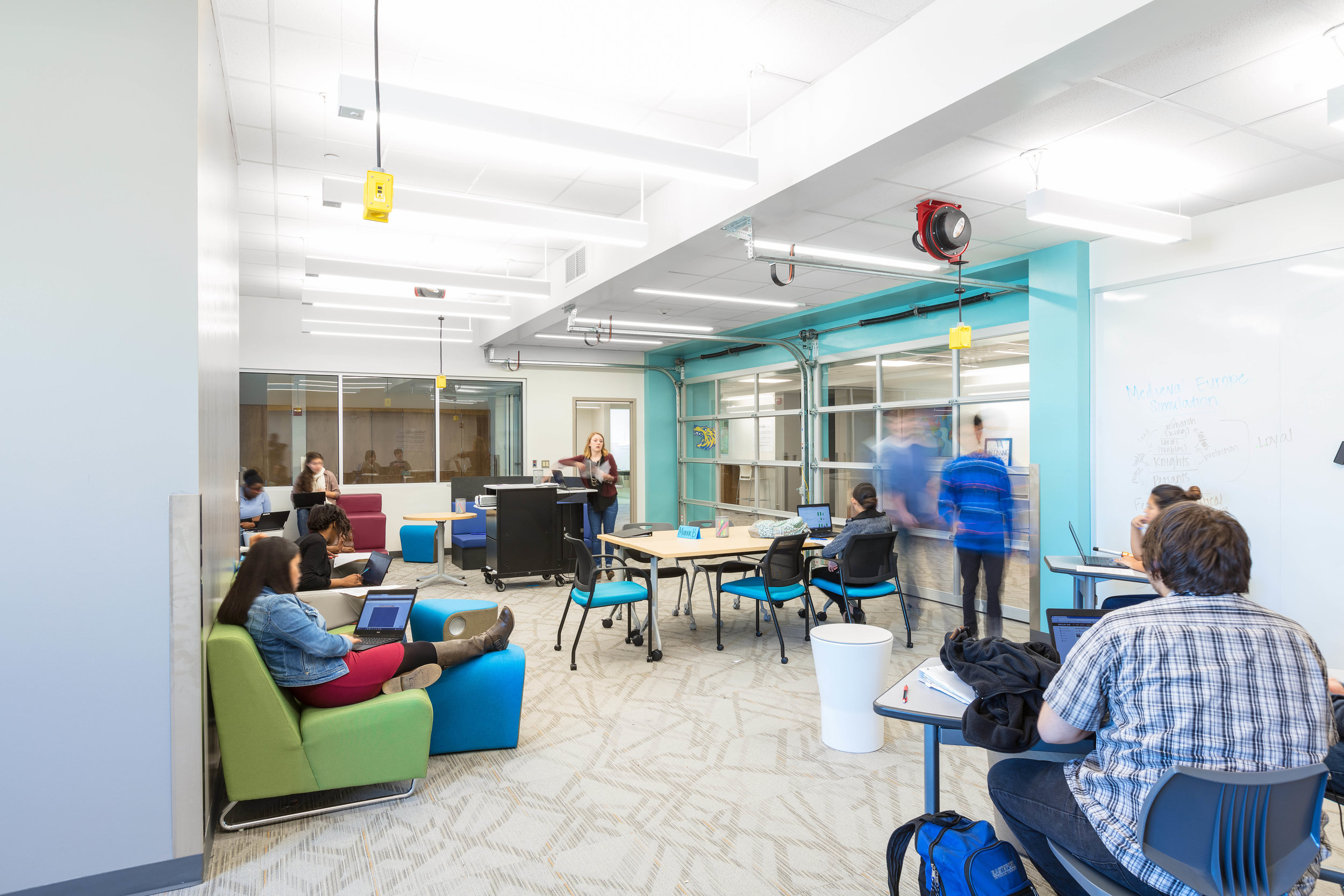 Personalized Learning, Personalized Place    Funds: ASID Foundation's Transform Grant, Herman Miller, and HKS Inc.   Collaborators: Dallas Independent School District, Herman Miller, Sally Augustine   Location: Dallas, TX
