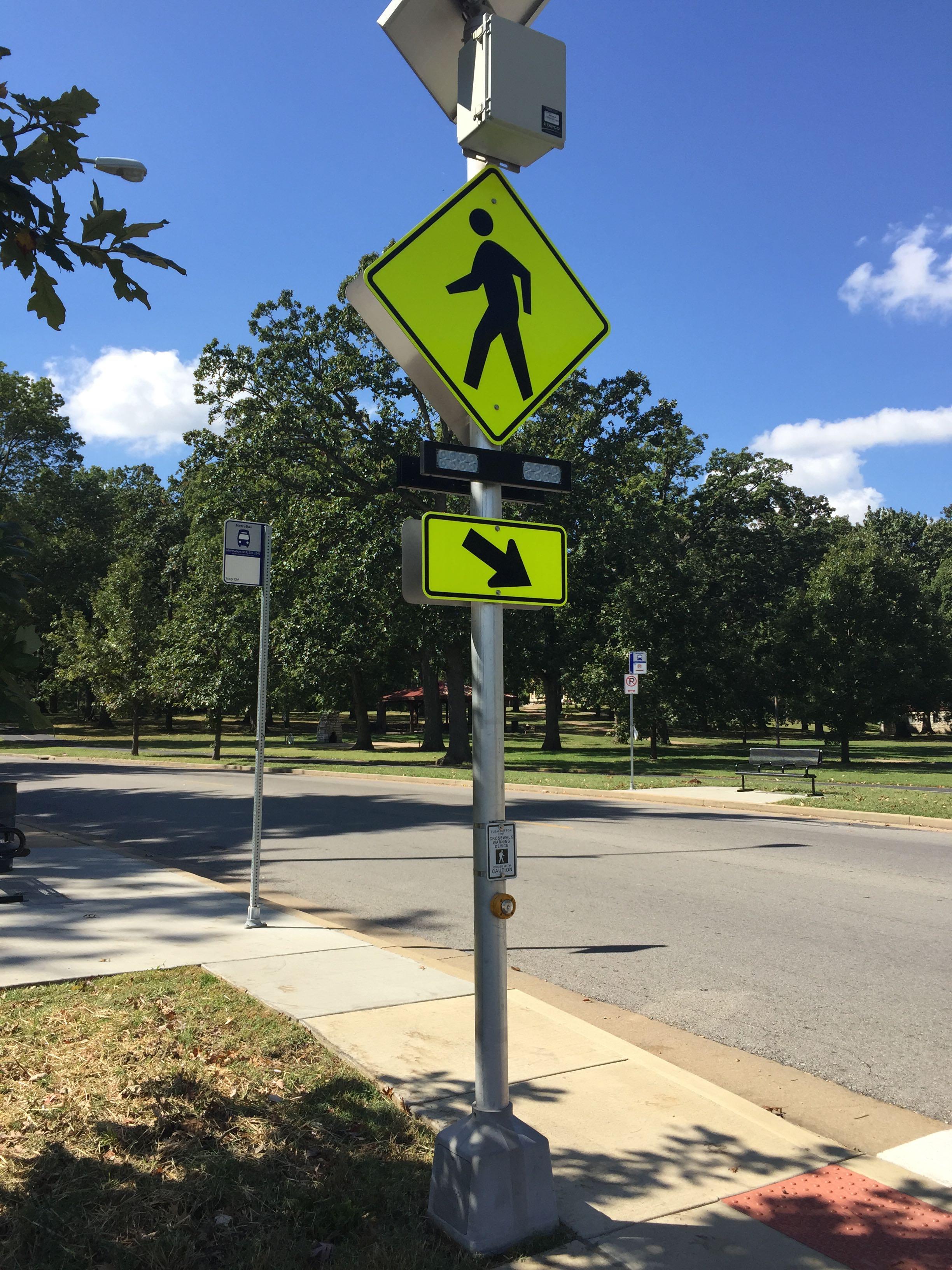 Signalized pedestrian crossing