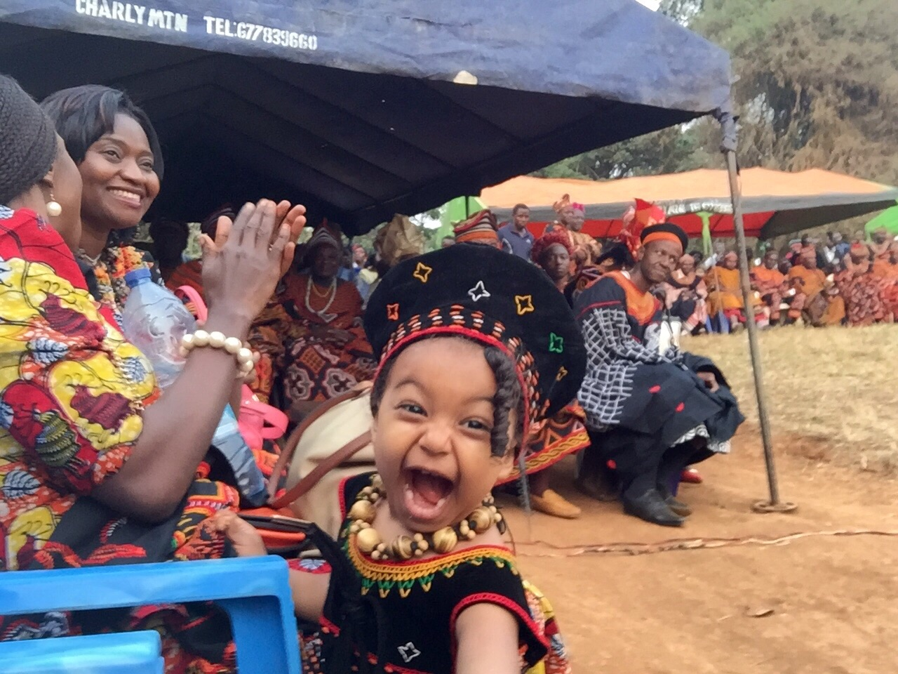 Elise at Ashong village's annual dance
