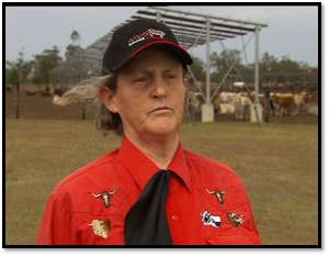 Temple Grandin at Kerwee Feedlot - Landline