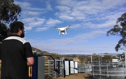 Simon piloting one of our drones