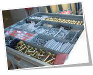 Stockyard component packing prior to shipping