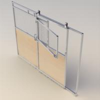 Split slide door access panel