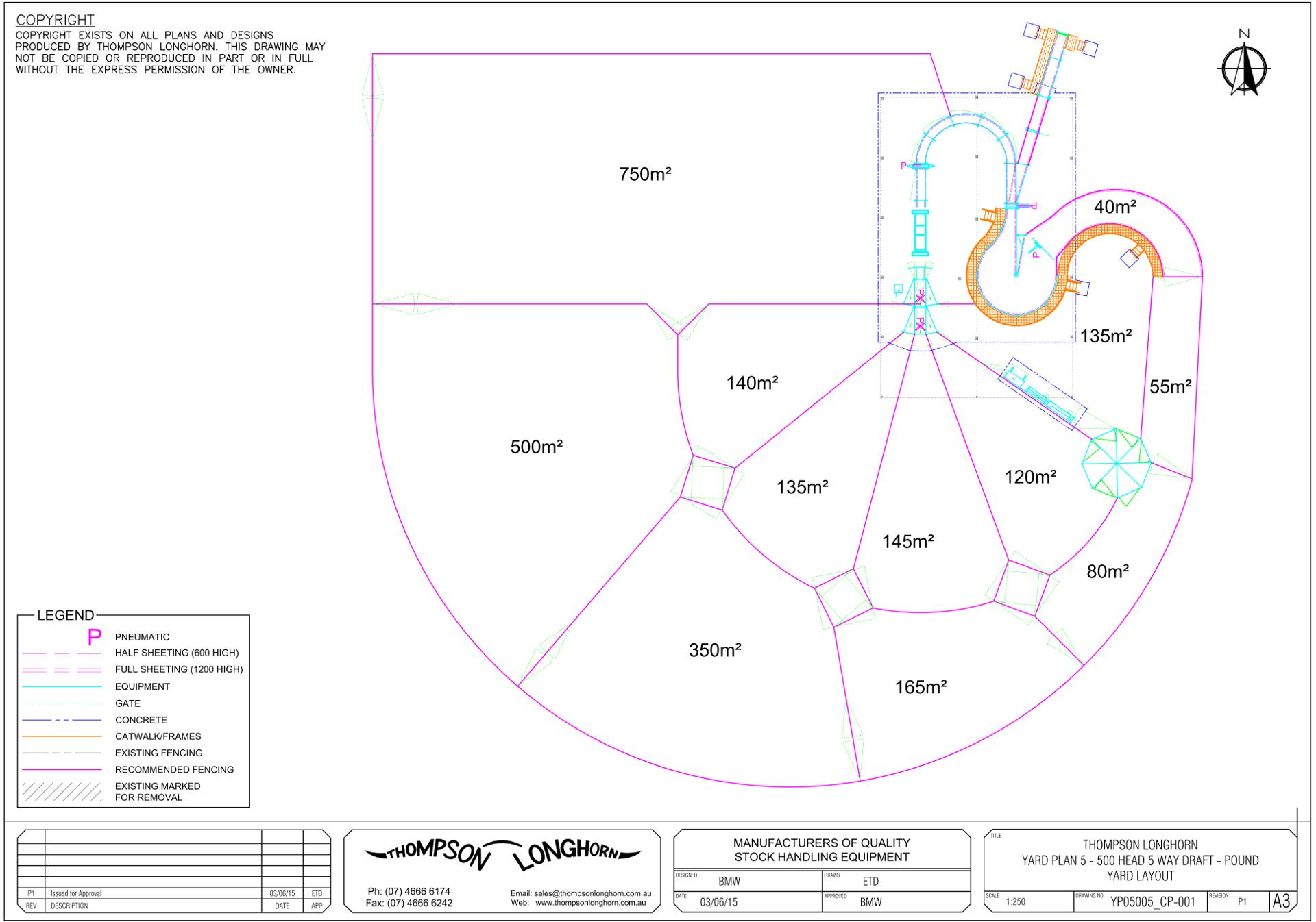 Designed yard plan