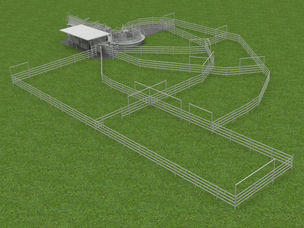 Computer rendered image of a custom yard 3D model