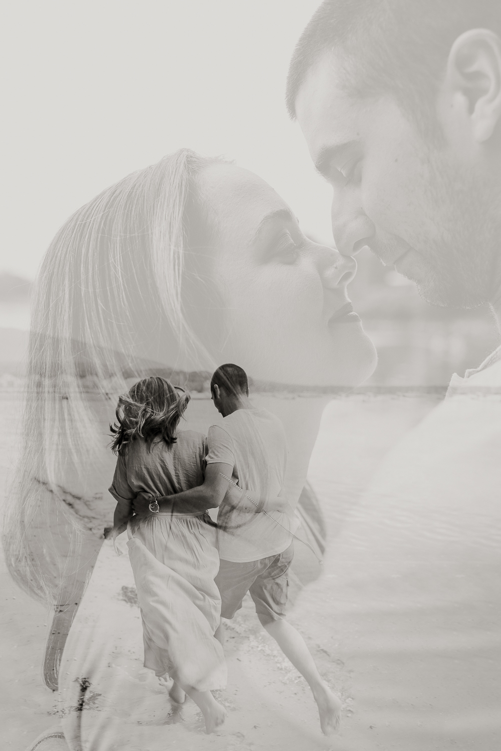 Double Exposure Photograph by Morgan Ellis from an anniversary session in Camden, Maine