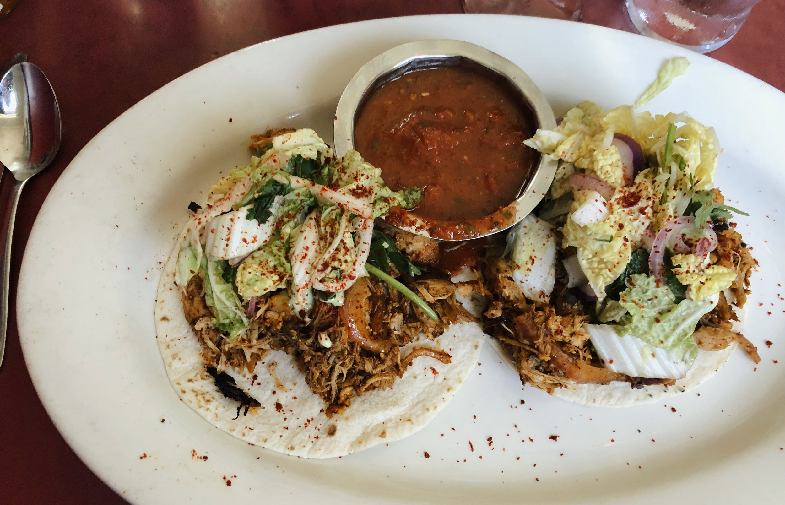 to-die-for-tacos at Cafe Miranda