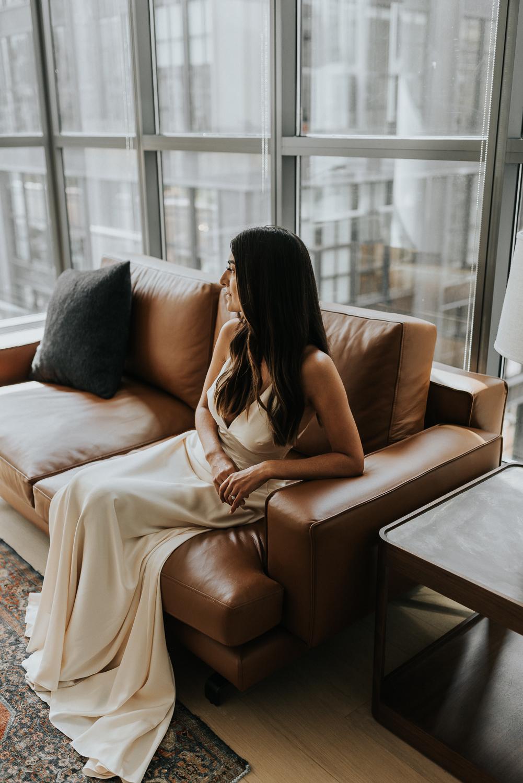 Intimate lifestyle bridal portraiture.