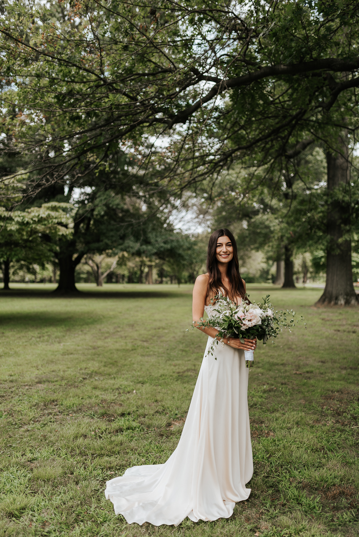 Fairmount Park Elopement Ceremony | Bridal Portrait