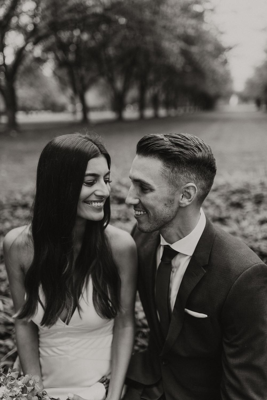 Joyful wedding portraits