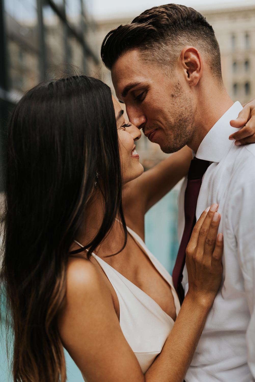 Philly elopement photographer - center city elopement day