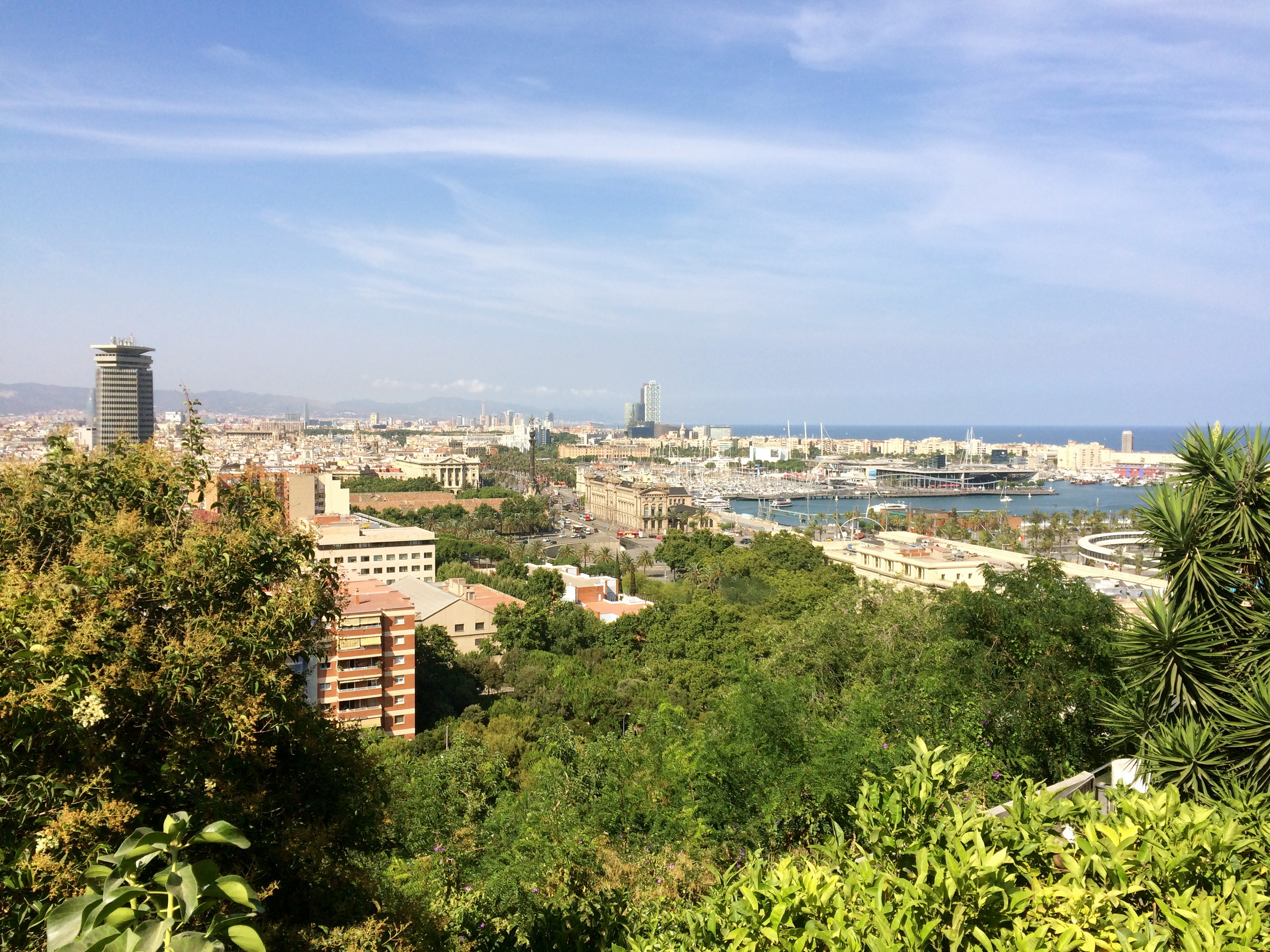 ◆  View from other side of Barcelona, near Park Montjuic