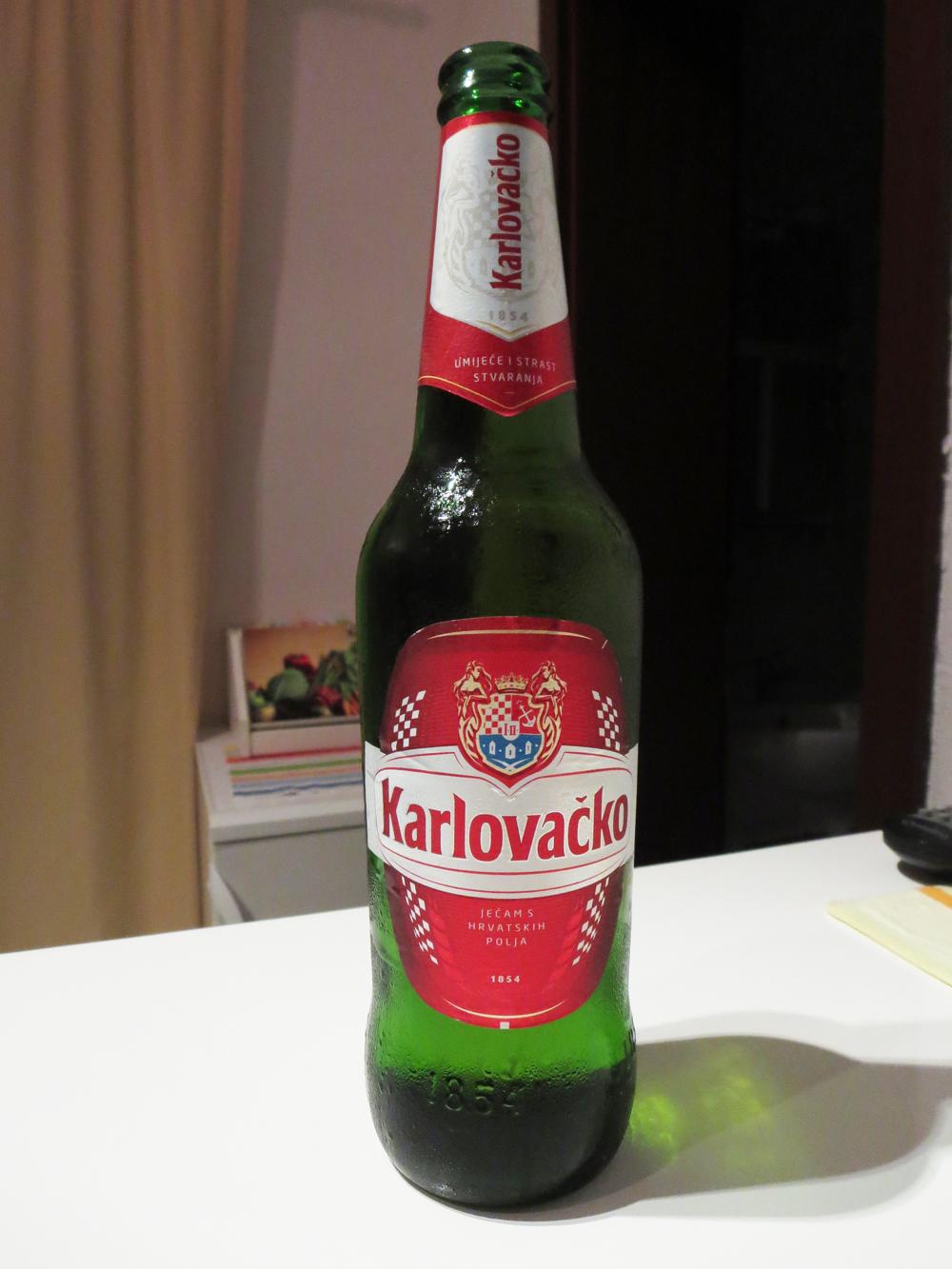 Karlovacko is a popular Croatian beer.