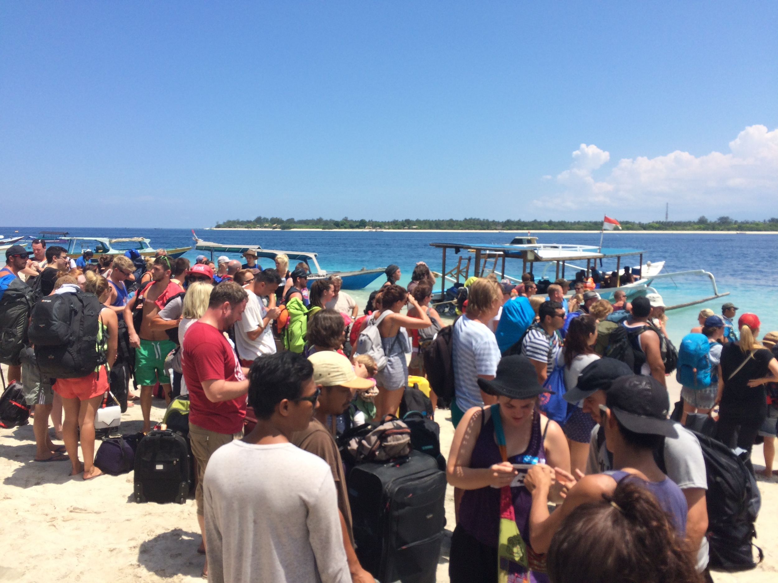 Arriving at Gili T!