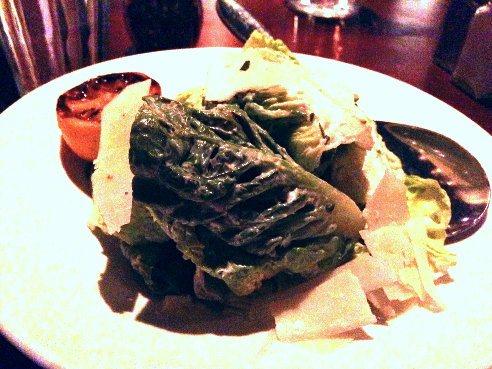 Ceasar Salad  (with no croutons):  This tasted way better than the picture looks. It was my favorite salad that we tried for sure.