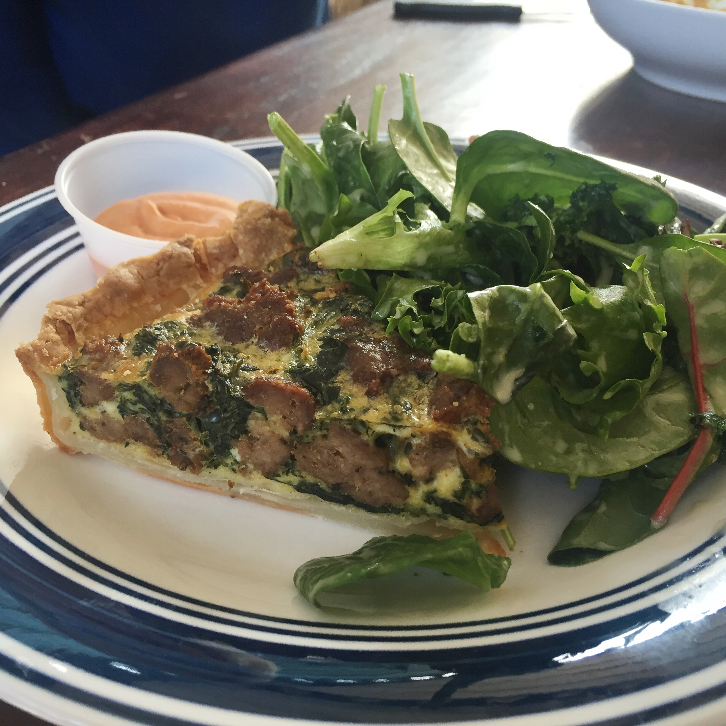 Gluten Free Sausage and Kale Quiche :)