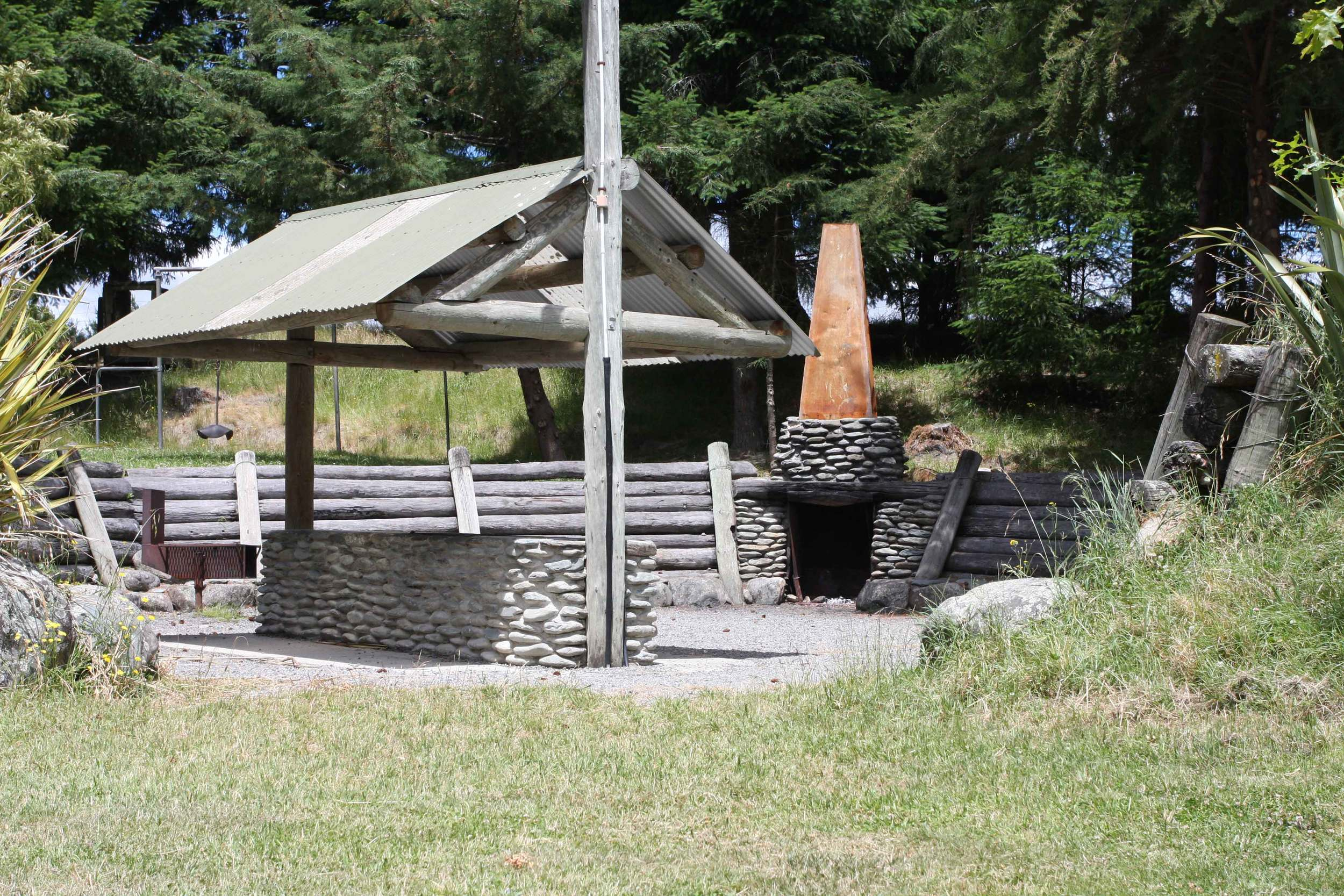 BBQ and Camp fire area