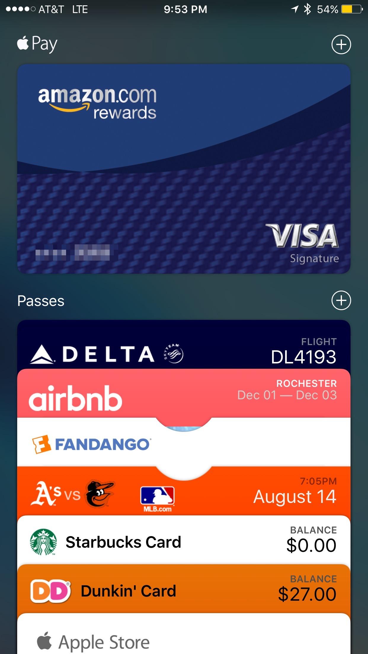 The Wallet app.