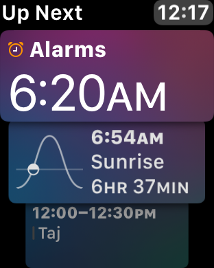 Combine calendar with alarms, timers, and other app data and this is a powerful watch face.
