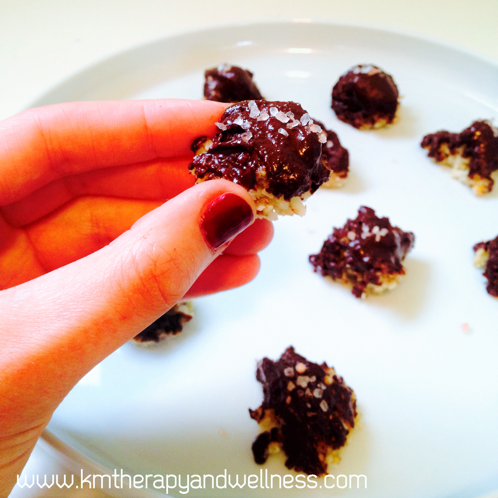 Chocolate Dipped Coco-nutty Macaroons