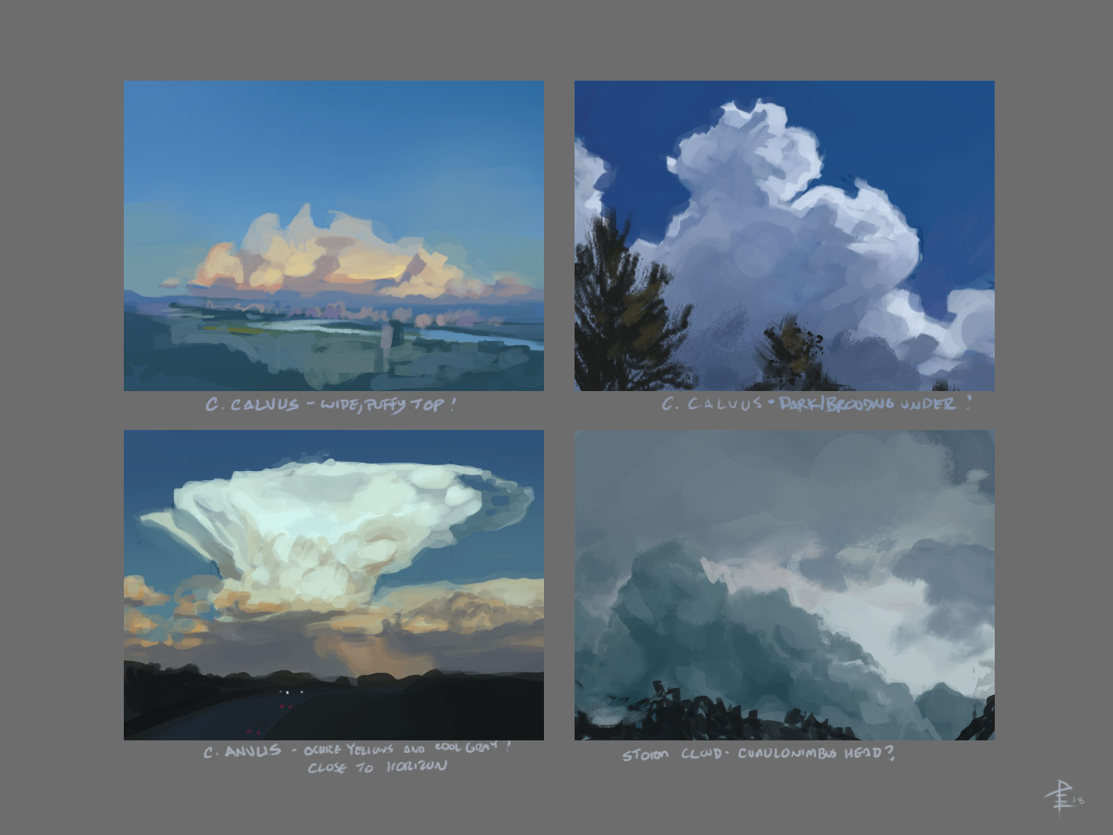 Cloud Study from Photo Reference