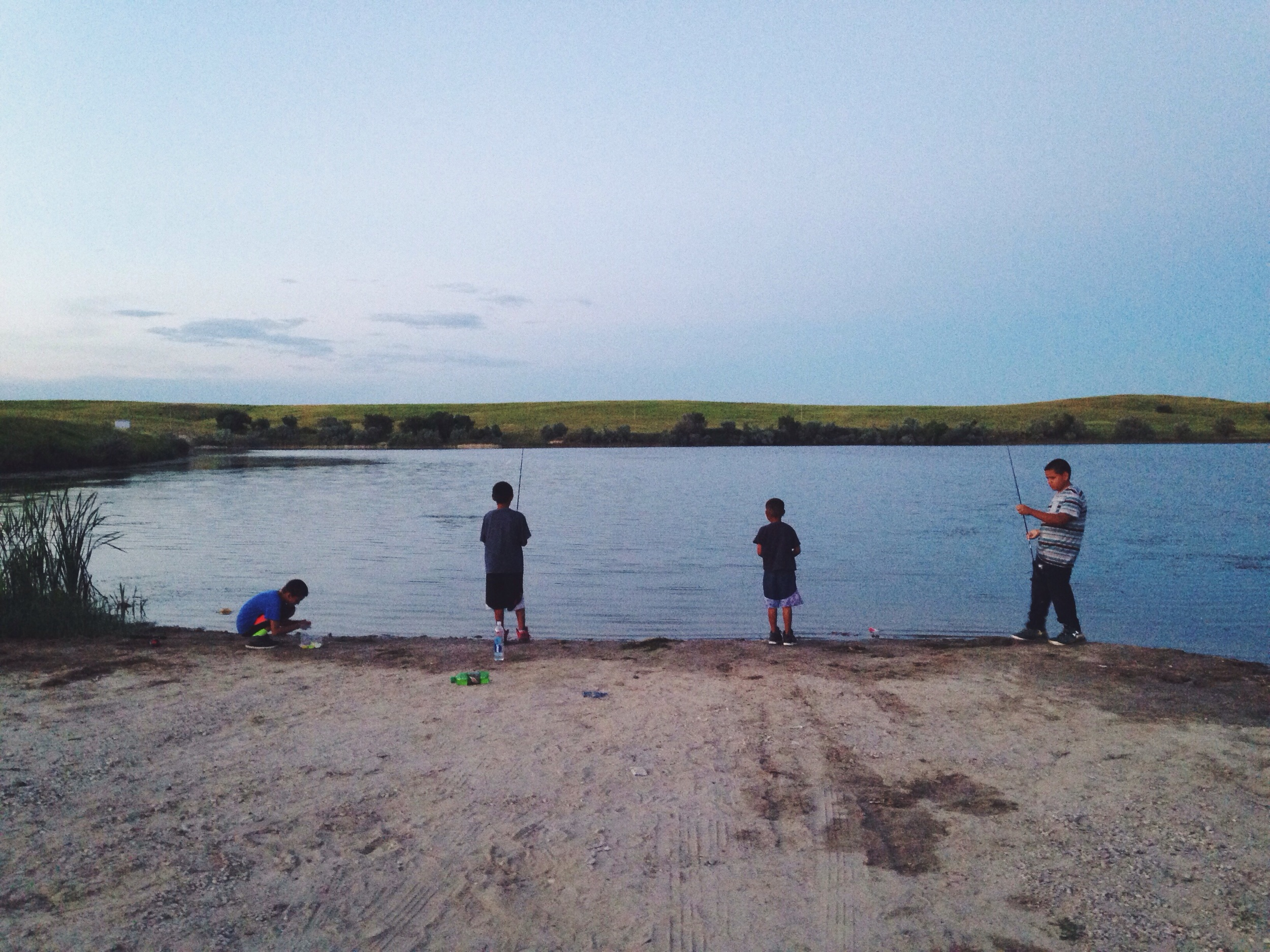 Fishing at the Kyle Dam