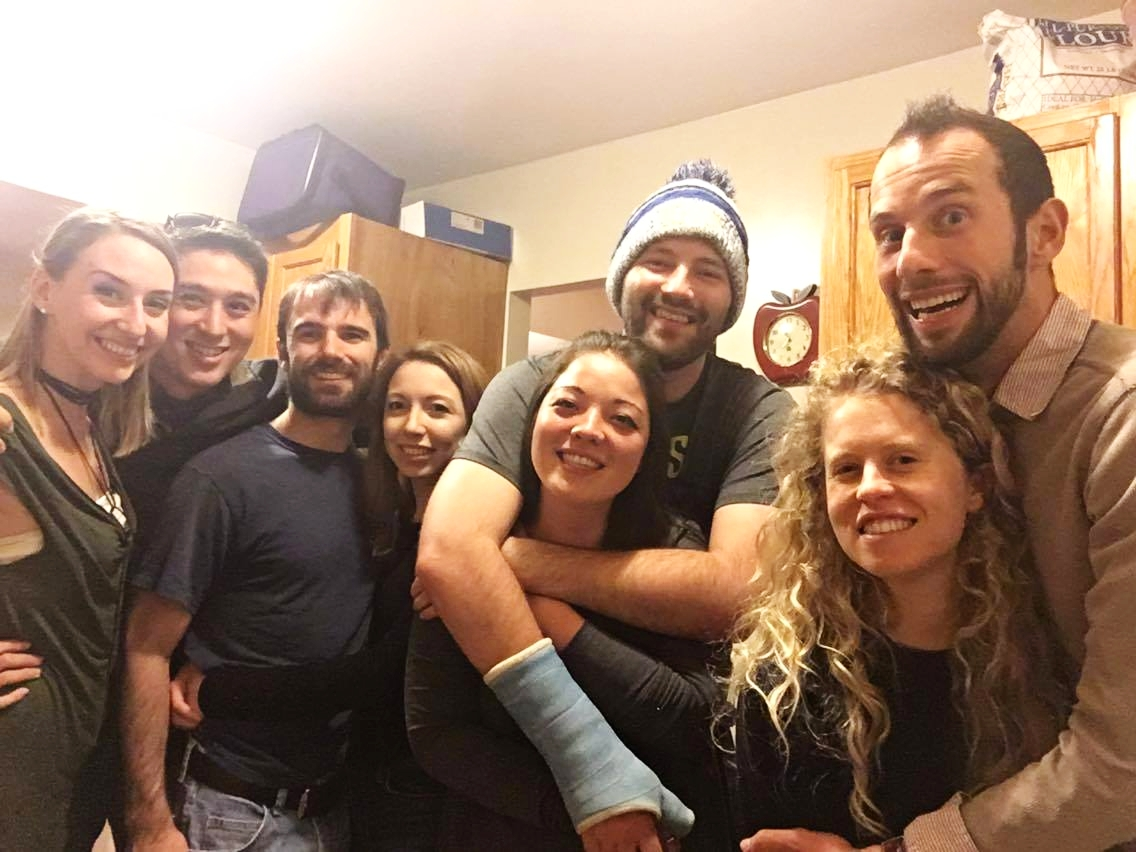Yayyyyy Friendsgiving!! Here's the crew from left to right: Me, Ernest(my hubs), Ryan, Anya, Aki, Kevin, Johanna, & Alex!
