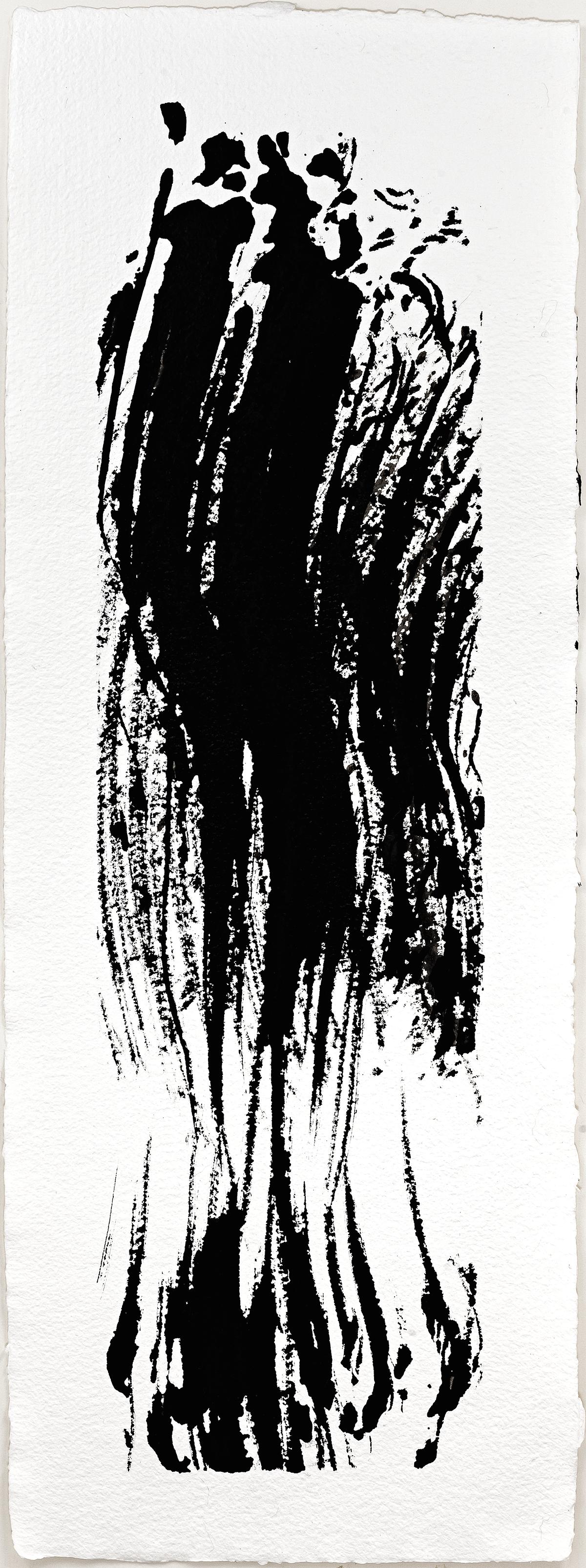 """Updraft I  2016  ink on paper  11 x 6"""""""